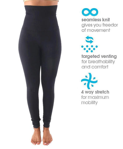 Fleece Lined Tummy Control High Waist Active Leggings navy 1