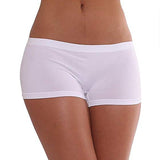 Free Size Seamless Workout Hot Shorts White