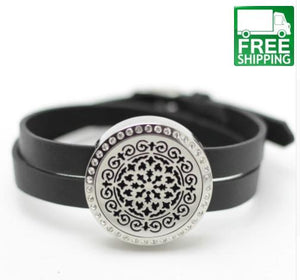Essential Oil Bracelet Diffuser with Crystals