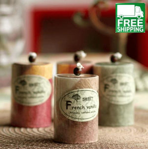 Cylindrical Fresh Fruit Scented Candles