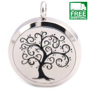 Tree of Life Stainless Steel Aromatherapy Charm