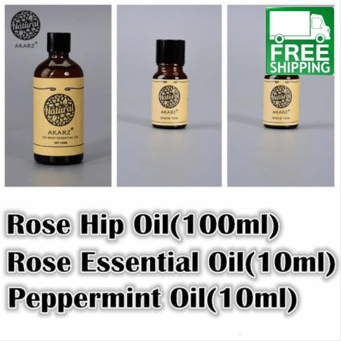 Rose Hip, Rose, and Peppermint Essential Oil Pack