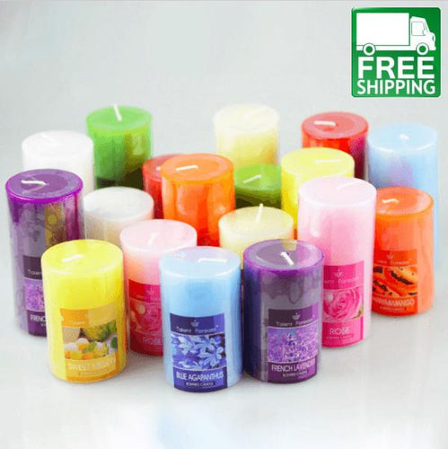 Smokeless Romantic Cylinder Aromatherapy Candles