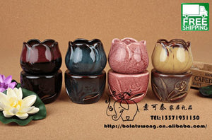 Tulip Ceramic Incense Burner