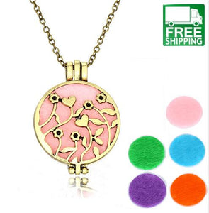 Heart Hollow Out Essential Oil Diffuser Necklace