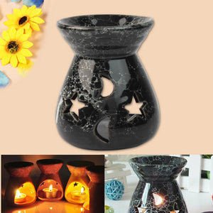 Black Ceramic Candle Holder and Oil Diffuser
