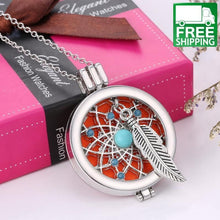 Feather Essential Oil Necklace