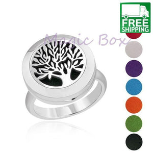 Aromatherapy Locket Ring with 8 Color Pads