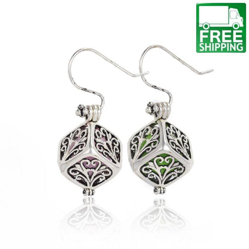 Tree Pattern Aromatherapy earrings