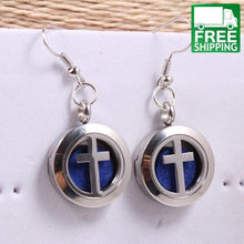 Inlaid Design Aromatherapy Essential Oils Earrings