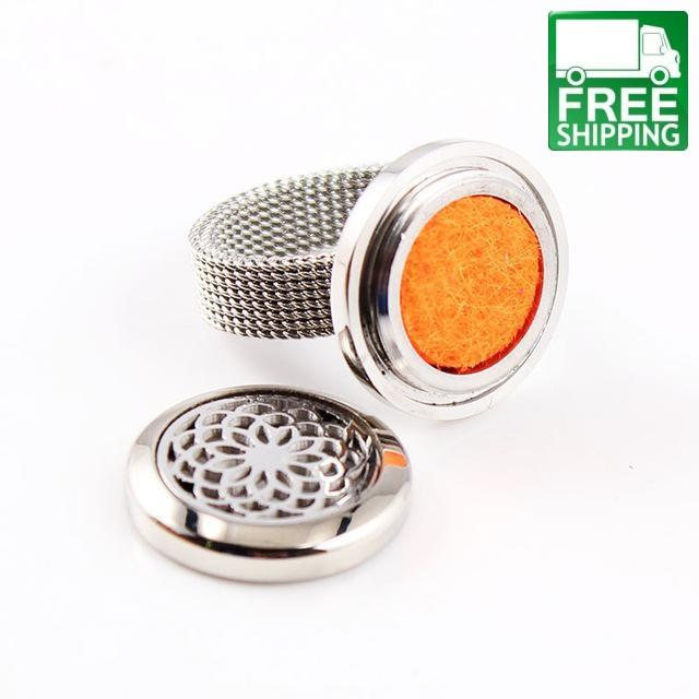 Wide Band Aromatherapy Diffuser Locket Ring