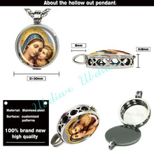 Aromatherapy Necklace featuring the Virgin Mary and Jesus