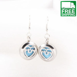 Love Mom Aromatherapy Dangle Earrings