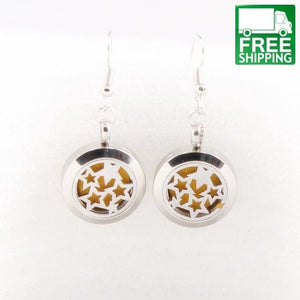 Stainless Steel Aromatherapy Drop Earrings