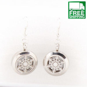 2 Piece Inlaid Design Aromatherapy Earrings