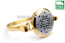 Gold Lotus Aromatherapy Diffuser Bangle