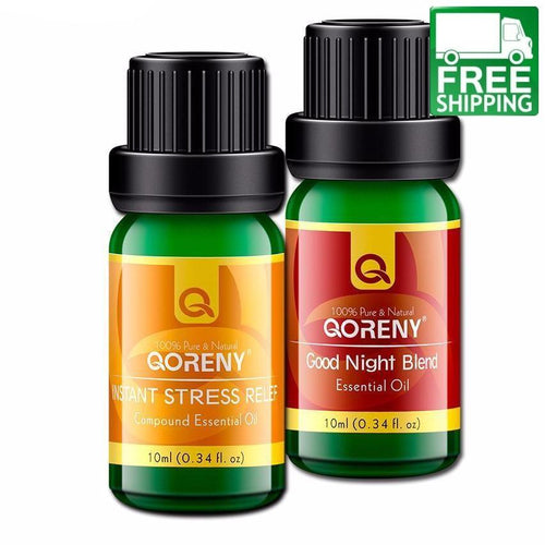 Instant Stress Relief + Good Night Essential Oils Blend