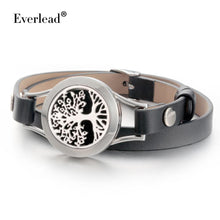 Aromatherapy Leather Tree bracelet