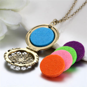 Aromatherapy Necklace with Locket Pendant