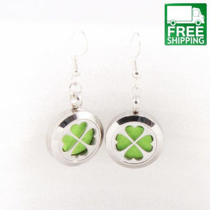 2 Piece Stainless Steel Aromatherapy Earrings