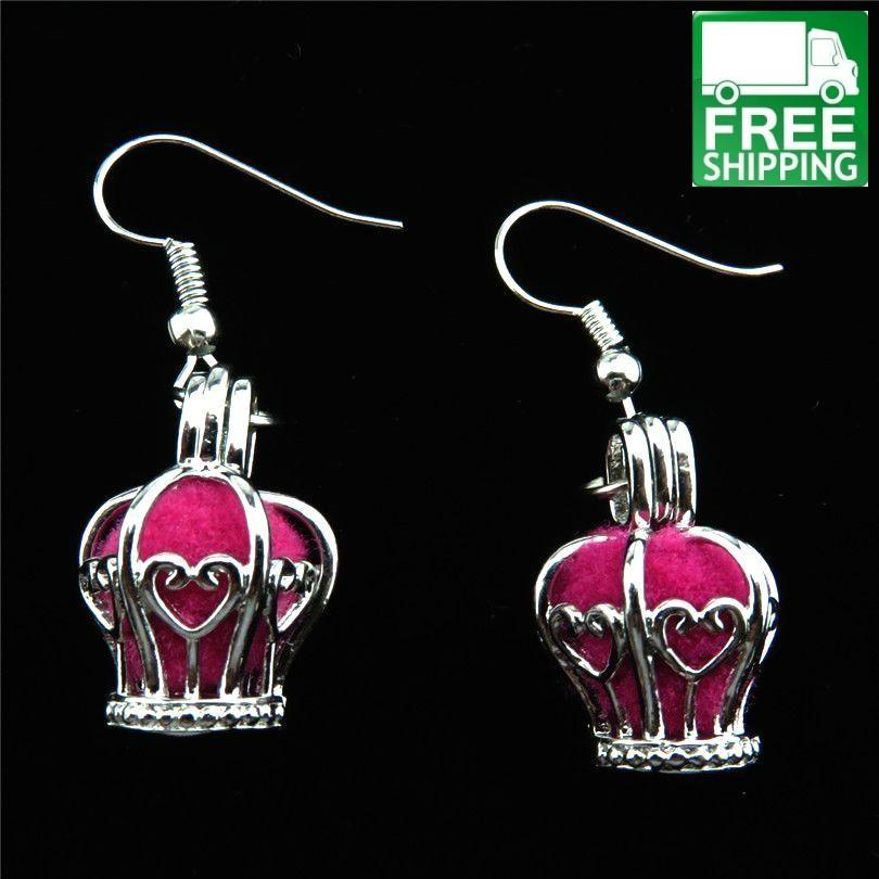 Queen Crown Aromatherapy Drop Earrings