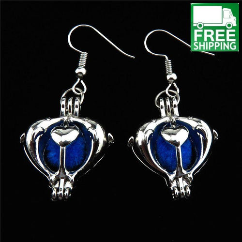 Dolphin Aromatherapy Drop Earrings