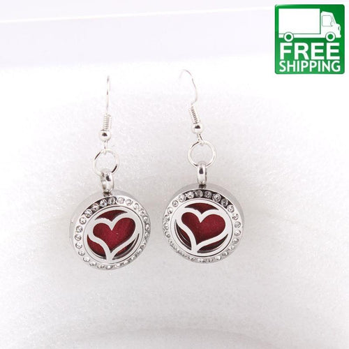 Heart Aromatherapy Dangle Earrings