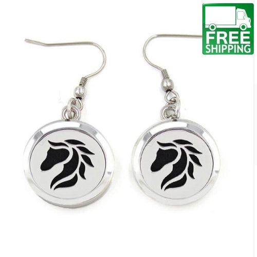 Horse Aromatherapy Drop Earrings