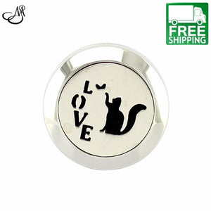 Cat And Love Aromatherapy Diffuser Locket Ring