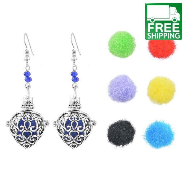 Tree Cube Aromatherapy Drop Earrings