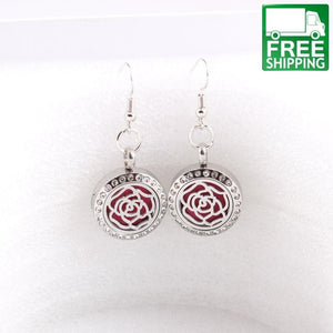 Rose Aromatherapy Drop Earrings