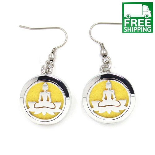 Buddha Aromatherapy Drop Earrings