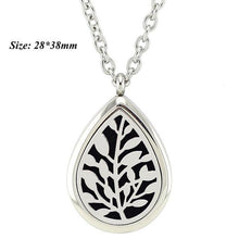 Stainless Steel Teardrop Pendant Necklace