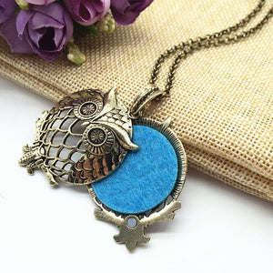 Copper Aromatherapy Owl Necklace