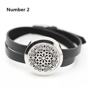 Stainless Steel Twisted-Off Oil Diffusing Wrap Bracelet