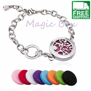 Silver Tree of Life Essential Oil Diffuser Bracelet