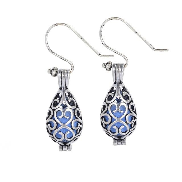 Vintage Aromatherapy Essential Oils Diffuser Drop Earrings