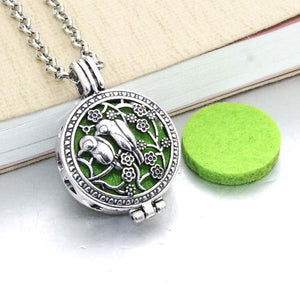 Aromatherapy Necklace with Vintage Hollow Locket