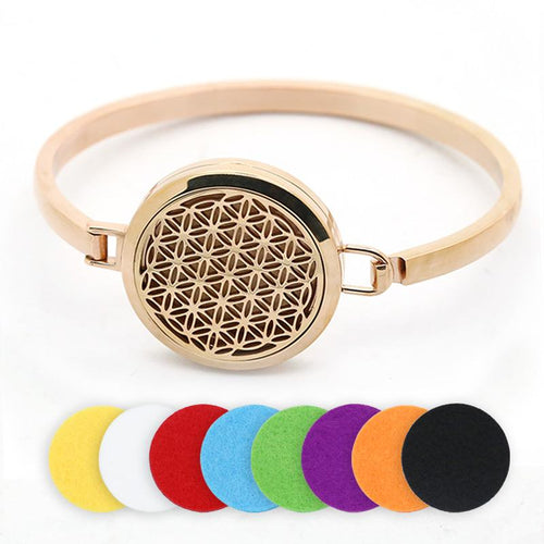 Aromatherapy Magnetic Stainless Steel Bracelet