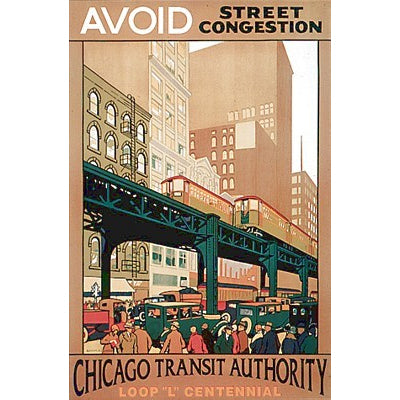 Avoid Street Congestion Poster