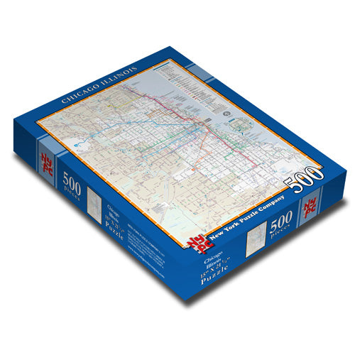 Chicago Bus & Rail Map Puzzle - CTAGifts.com
