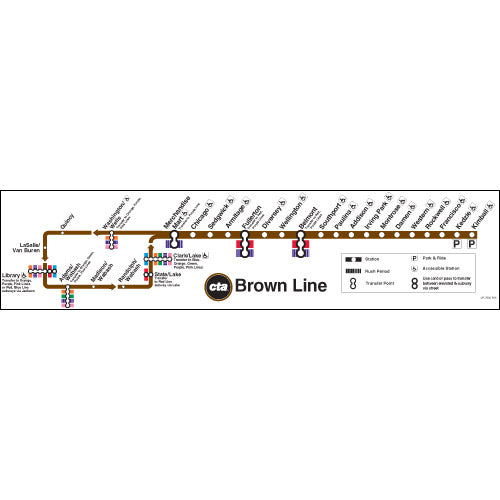 Brown Line Map Poster