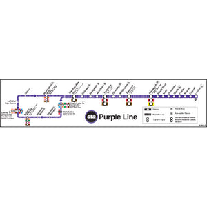 Purple Line Map Poster