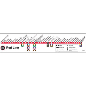 Red Line Map Poster