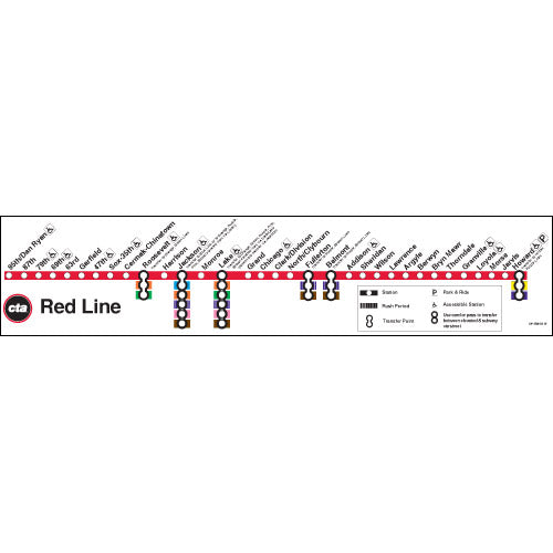 Red Line Map Poster - CTAGifts.com