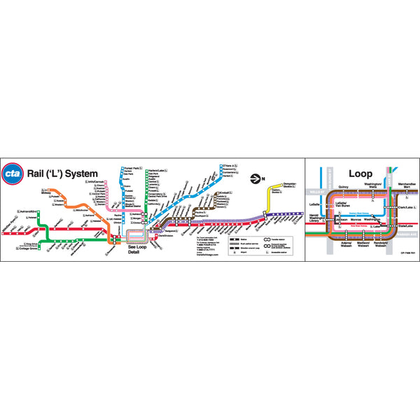 Chicago Transit Authority Cta System Map Poster Ctagifts Com