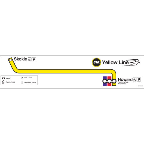 Yellow Line Map Poster