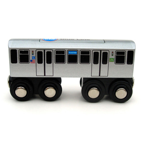 Blue Line Wooden Train - CTAGifts.com
