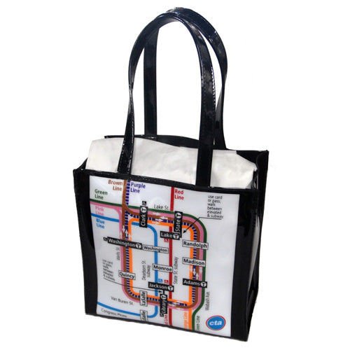 CTA Rail Map Tote Bag - CTAGifts.com