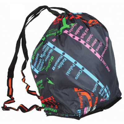 CTA Rail Map Folding Backpack